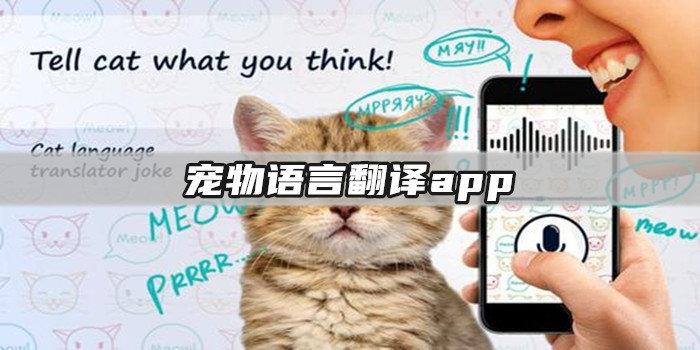 宠物语言翻译app