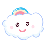 可爱彩云朵朵