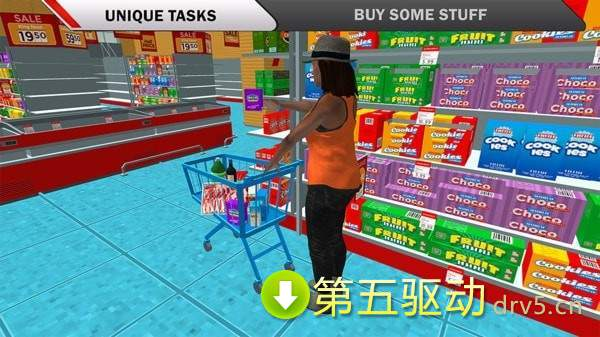超市購物汽車模擬圖3