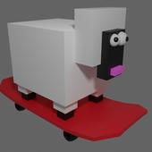 方块小羊跑