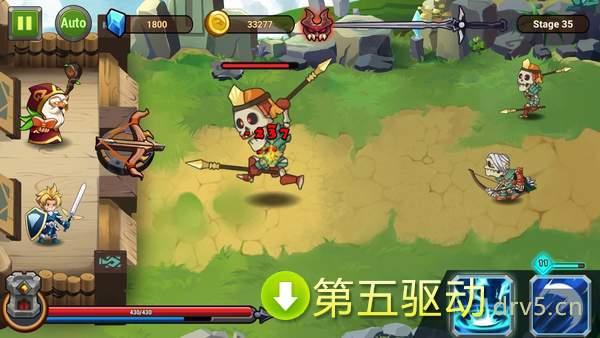 城堡后卫英雄射手破解版图2